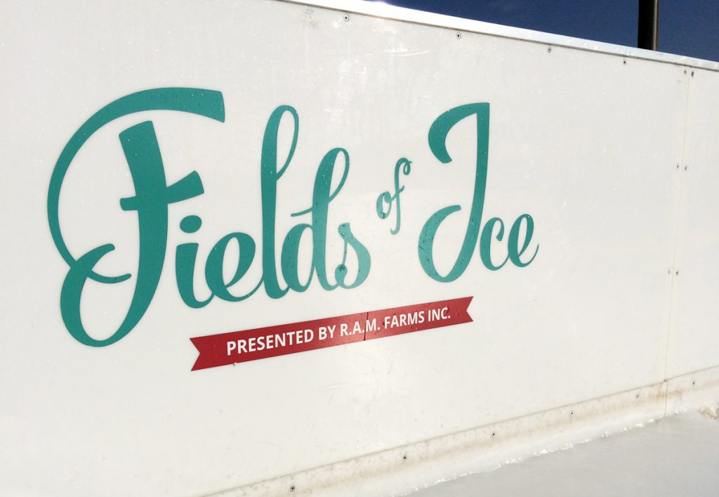 Fields of Ice Vinyl cutout dasherboard sign
