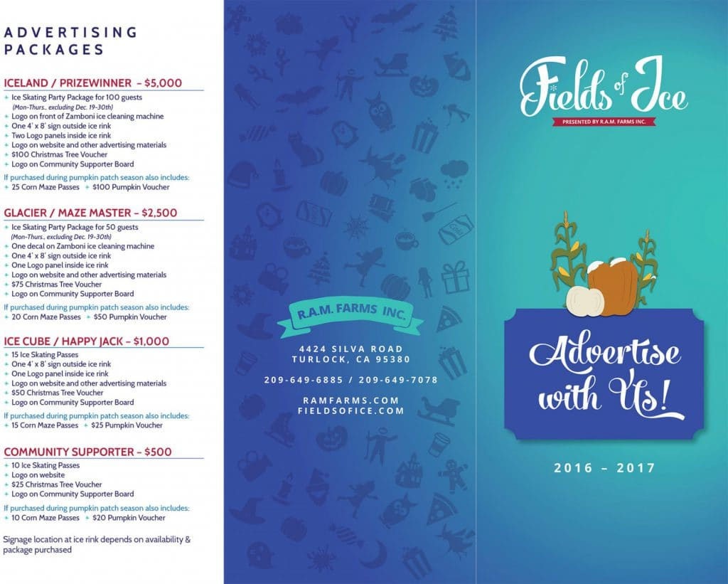 Advertiser-Brochure, outside, Fields of Ice