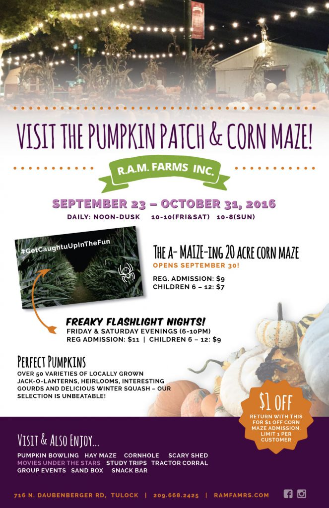 Flyer Design (2017), R.A.M. Farms Inc.