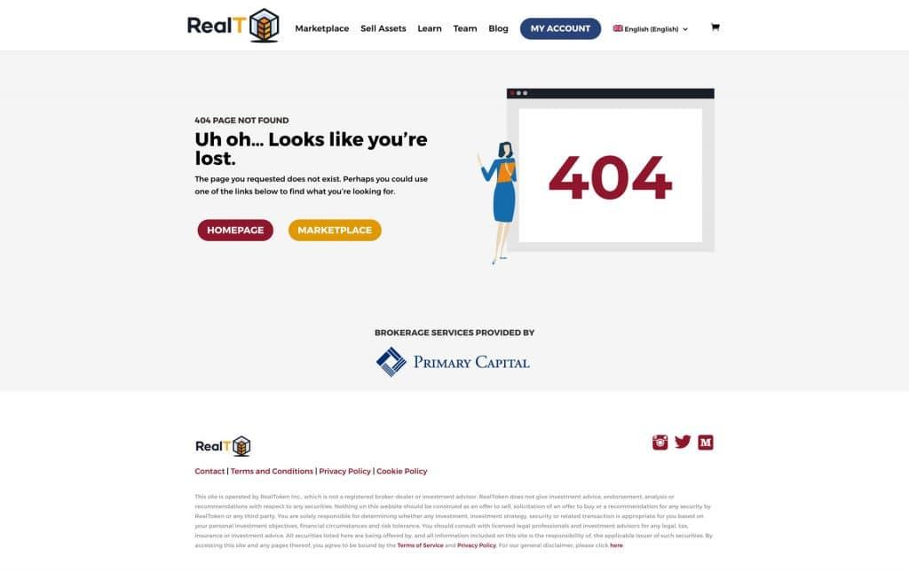 realT: 404 Page Design