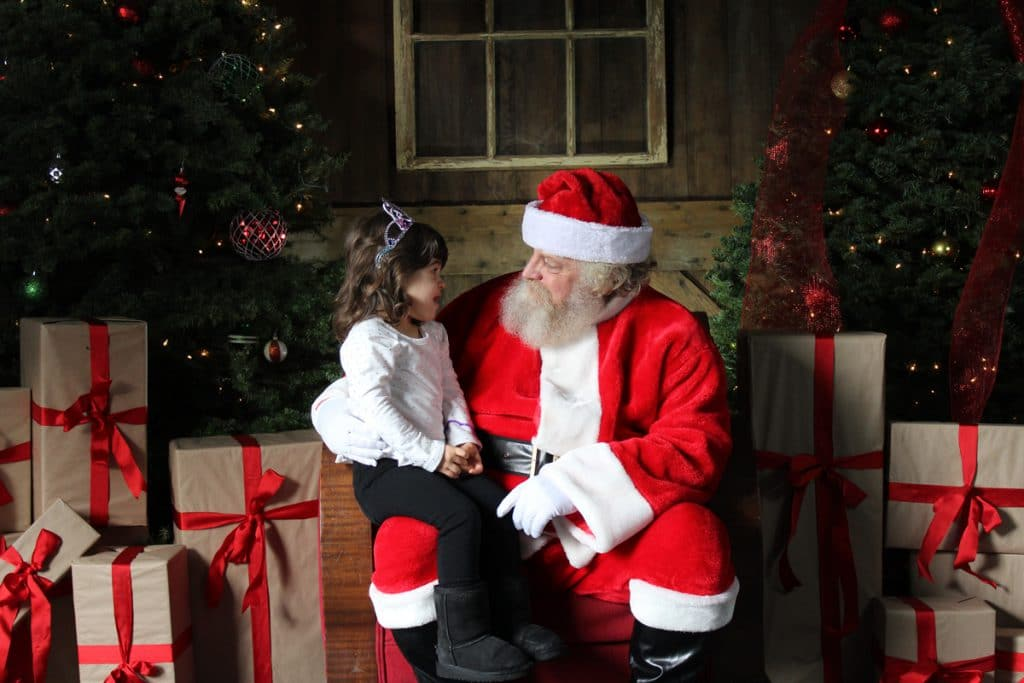 R.A.M. Farms Inc: Photos with Santa, Olivia