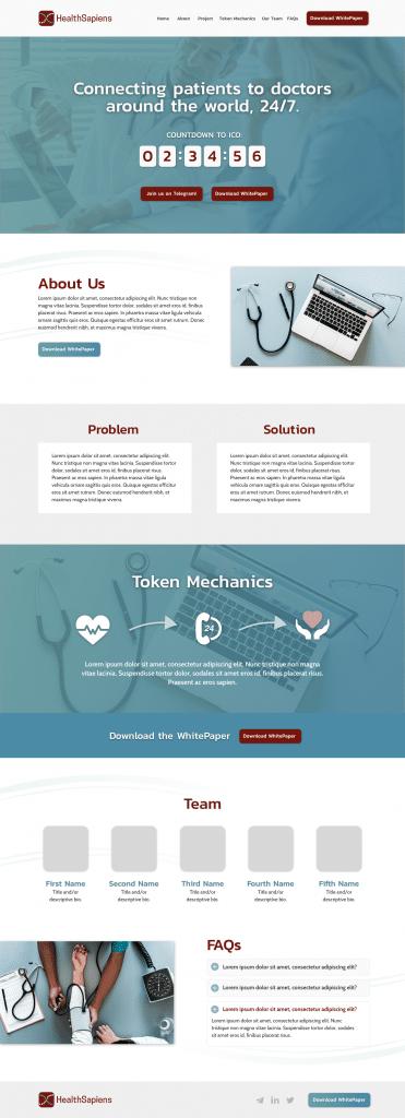HealthSapiens_ICO_Site_Mockup