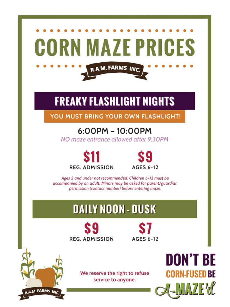 2018-Corn-Maze-Price-Sign