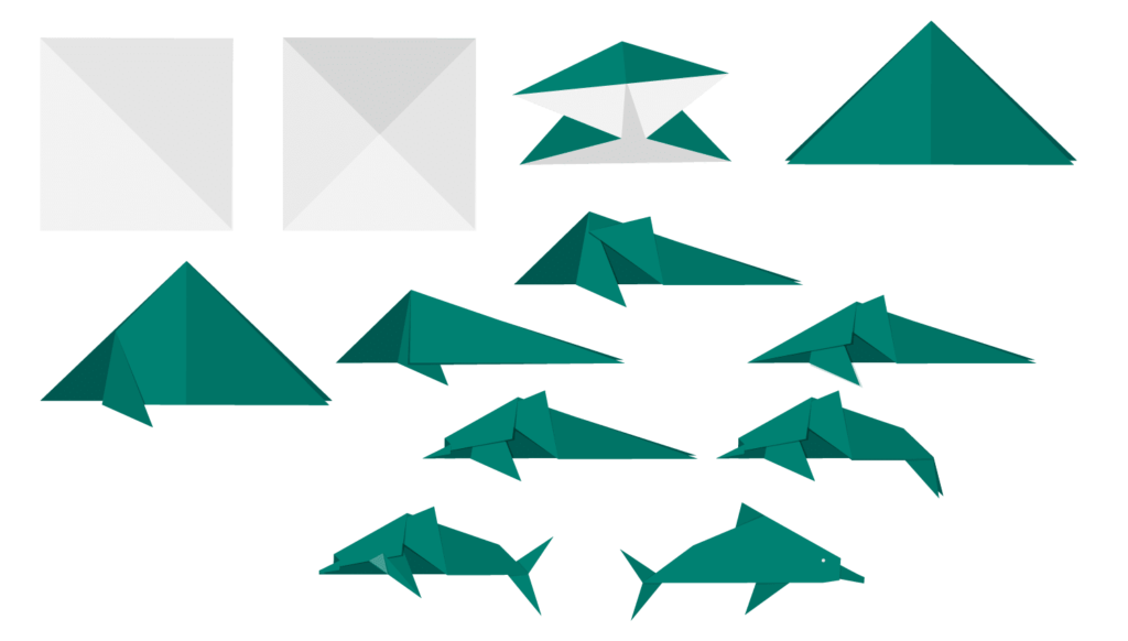 MSFT_Dolphin_origami_animals